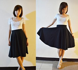 Anne Villegas - Zara Fitted Top, Thewearhouseph Mid Circle Skirt - Turn it into wings and fly