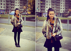 Patrycja T - F&F Fur, Sh Scraf, Mohito Bag, H&M Skirt, Czas Na Buty Shoes - Winter