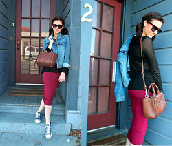 Adrienne KL - Aritzia Top, Kate Spade Bag, Nordstroms Skirt, J.Crew Jacket - EASY LIVING