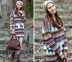 Sabrina K. - Oasap Norway Sweater, Primark Bear Hat, 8pink Scarf - You can take everything I have!