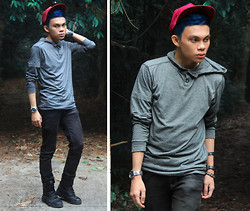 Jomie Hospital - Oxygen Gray Sweater, Penshoppe Slim Fit Black Pants, Magnum Black Boots - Friday the 13th