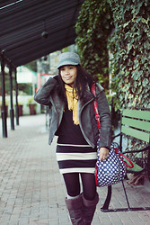 Christine Dior (Discover Fashion Author) - H&M Tube Skirt, Zara Jacket - Oooh, that day!