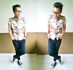 Jaen Earthling - Thrifted Jeggings, Diy Shoes, Sm Accesories, Gmall Neirdy Eyeglasses - FOR TODAY