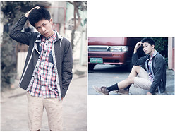 Ervin David - Pony High Sneakers, Penshoppe Checkered, Polka Black Polo, Markus Printed Shorts - Cloudy eye