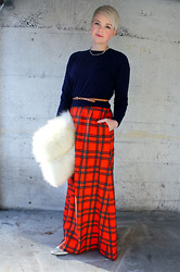 Catie Beatty - Pendleton Plaid Maxi Skirt - Tartan Christmas