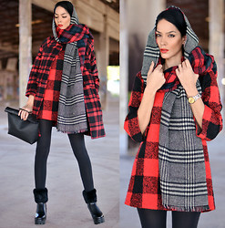 Konstantina Tzagaraki - Coat, Dress, Booties, Bag - Nothing burns like the cold or love..
