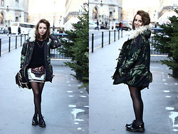 Clémentine Collinet - Http://6ks.Com/Wool Hat Collar Camouflage Printing Outerwear D4573.Html Coat, Dc Martens Shoes, Http://Www.Sirenlondon.Com/ Skirt, Http://Www.Sudexpress.Com/Collection Automne Hiver/Hauts/Pulls/H13 12831 Mousty Rubis Pull Angora Boutons.Htm Pull, Http://Www.Ringsandtings.Com/Collections/Necklace/Products/Stud Collar Tip Accessory Ringsandtings - Chrismas spirit