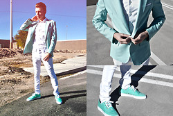 Steven Goldblood - Buffalo Exchange Seafoam, Creative Recreation Sea Shoes - Where the sidewalk ends, there's sea foam