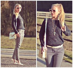 Maren Anita - Mango Sweater, Mango Pants, Gucci Sunnies, Buffalo Shoes - Sunshine