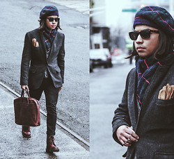 Denny Balmaceda - J. Crew J.Crew Tweed, Dr. Martens Dr.Marten's - MIRACLE ON 34th ST.