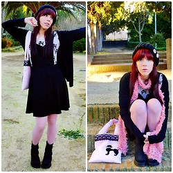 Natalia L. - Asos Black Pinafore Dress - Hey, pay a little more attention to me~~