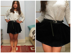 Sanj Gurung - Missguided Jumper, Missguided Skirt, Primark Belt - Velvet touch