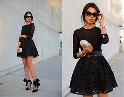 Annabelle Fleur - Keepsake The Label Dress, Tasha Clutch, Aminah Abdul Jilil Heels - LITTLE BLACK LACE