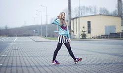 Gabriela Karbowska - Choies Sweatshirt, New Balance Sneakers, Bershka Skirt - Perfect sweatshirt