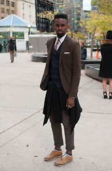 Sidney Richardson - H&M Blazer, Burberry Shirt, Topman Tie - Standing there, looking like myself