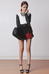 Tricia Gosingtian - Murua Top, Emoda Top, Emoda Shorts, Emoda Heels, Louis Vuitton Bag, Bellevior Necklace - 120213