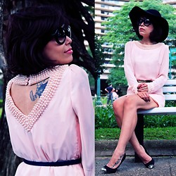 Priscila Diniz - Oasap Pink Pearl Dress - Dress pink, be chic!