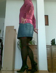 Ania Trans -  - Man in heels and denim skirt