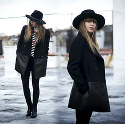 Lisa Dengler - Coach Wool And Leather Car Coat, Otte Alexis Hat, Lush Clothing Sweater, Asos Chelsea Boots - WINTER ESSENTIALS