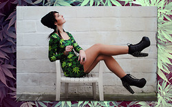Martina Jrn - Black Milk Clothing Weed Dress, Jeffrey Campbell Spiky Lita - SMOKING WEED WITH YOU