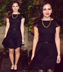 Bianca . - Primark Dress, Zara Necklace, Primark Shoes - Little black dress