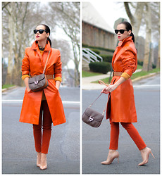 Veronica P - Christian Louboutin Shoes, Céline Bag - Tangerine crush