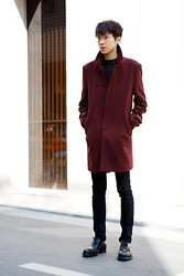 Choi Jung Kab - Coat, Prada Shoes - BLACK BLOOD