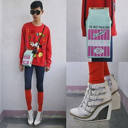 Jeroy Balmores - Disney Sweater, Asianvogue Wedges, Tutumshop Bag - Disney
