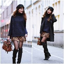 "Virgit Canaz - Choies Sweater, Choies Leopard Skirt - Lucky ""ROMWE GIVEAWAY"""