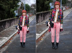 Monique K.... - Pink Jeans, Shirt, Boots, Blazer - 21.12.2013