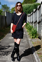 Jennifer Chou - Maison Martin Margiela Dress, Rika Bag, Mi Piaci Boots - New Height