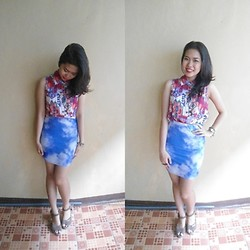 Syuri Khodijah Nurjanah - Flowery Shop Indo Sky Printed Skirt - Reach For The Sky~ by @syurikn