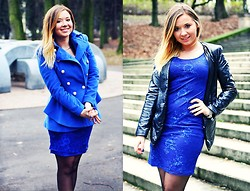 Lookbooky PINGER.pl - Suit, Dress, Coat - Blue metal.