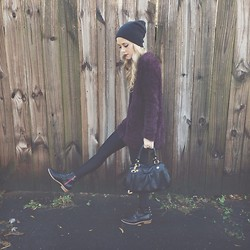 Mary Ellen Skye - Topshop Top, Marc By Jacobs Bag, Lululemon Tights, Modern Vice Black Jetts - Feelings
