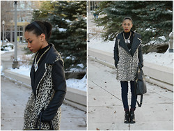 Carmen Henry - Nasty Gal Coat, Topshop Necklace, American Apparel Jeans, H&M Bag, Aldo Boots - Growl Power