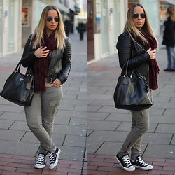 Melanie C.H. - Ray Ban Sunglasses, Prada Purse, Converse Sneakers - LOOK OF THE DAY - 21.12.2013