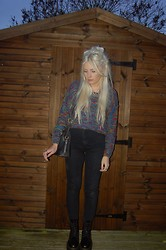 Nicola Boraston - Rose Wholesale Jumper, Dr. Martens Jadon Boots - Bobbles