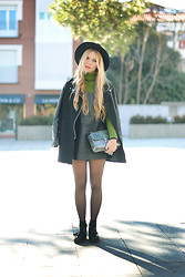 Martha Lozano - Choies Hat, Zara Sweater, Sheinside Coat, Martha Lozano Dress, Menbur Bag, Mango Shoes - No me vendas la moto