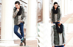 Miko Carreon - Topman Pullover, River Island Scarf, Forever 21 Shoes, Forever 21 Jacket, Giordano Socks - Let it snow