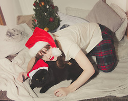 Sofia Holmberg - Lindex Pyjamas Pants, Nelly Leather T Shirt - Merry Xmas!!!!
