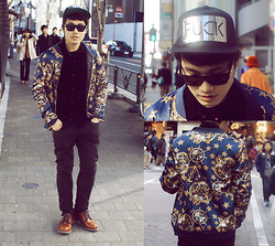 KIKO CAGAYAT - Choies New Look Bomber Coat With Crown Pattern, Modekungen Fvck Cap - Royals