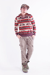 Jaro Daily - Reindeer Aztec Sweater - Just Another Christmas Day