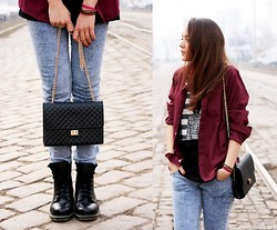Simona Slavova - Tally Weijl Jeans, H&M Shirt, H&M Top, Alcott Bag, Northland Boots - Goldie