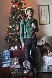 Bobby Raffin - Lifeafterdenim Dress Shirt, Gap Black Skinnies, Gift From Jennifer! B Cozy Socks - ❄ Merry Christmas Everyone! ❄