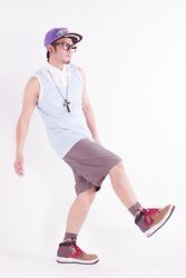 Jaro Daily - New Era Snapback, Forever 21 Baby Blue Tanktop, Forever 21 Athletic Shorts, Nike Kicks - Just an instant crush