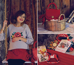 Anastasia K. - Cath Kidston Katie Sweater, Ginger And Soul Skirt, Zac Posen Bag, Michael Kors Watches - Merry Christmas. :)