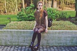 Silvy De Jong - Motel Dress, Chicnova Backpack, Chic Wish Ankle Boots - GOLDEN TOUCH