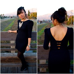 Alex Nguyen - Thrifted Lbd, Talbots Pearls - Blackness