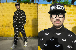 Andre Judd - Kenzo Eye Print Cap, Eye Print Sweater And Sweatpants, Nike Airmax 90 - EYE SEE YOU