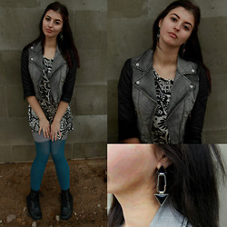 Eveline P - Forever 21 Jacket, H&M Dress, Pieces Earrings - Rock your body
